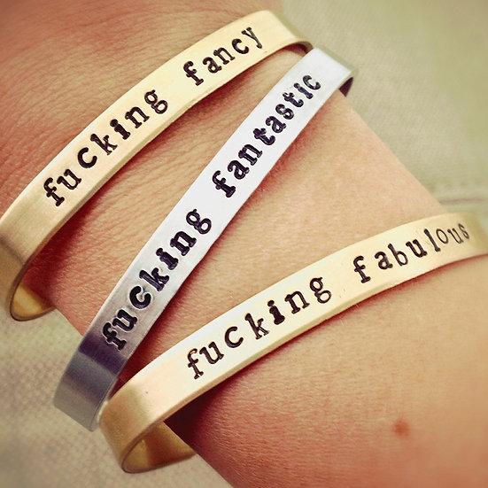 Citizen Ruth - Stamped Metal Bracelets