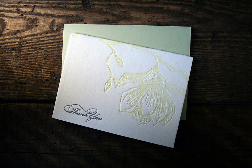 Magnolia Thank You Cards (Single Card)