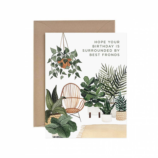 Best Fronds Birthday Greeting Card