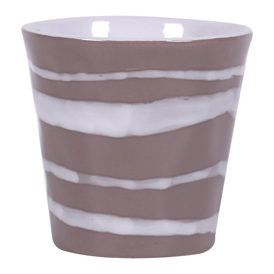 "4.25"" River Flow Flower Pot - Brown"