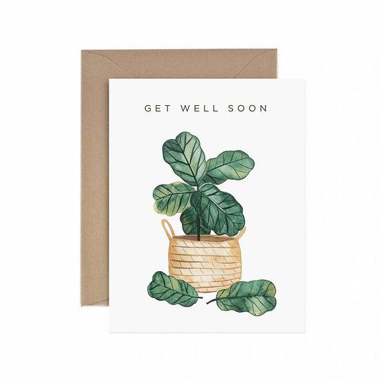 Get Well Soon Fiddle Leaf Fig Greeting Card