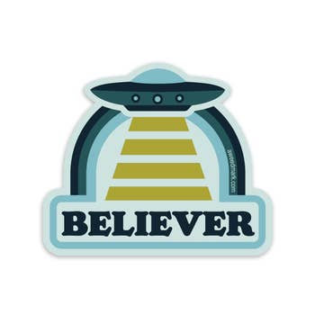 Believer UFO Sticker