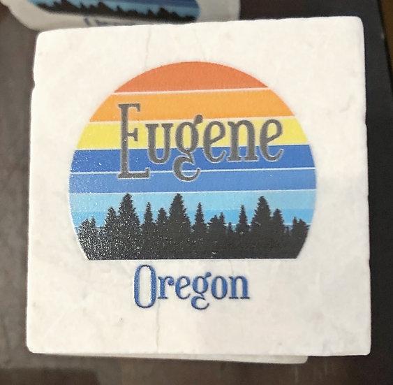 Eugene Retro Sunrise Magnet