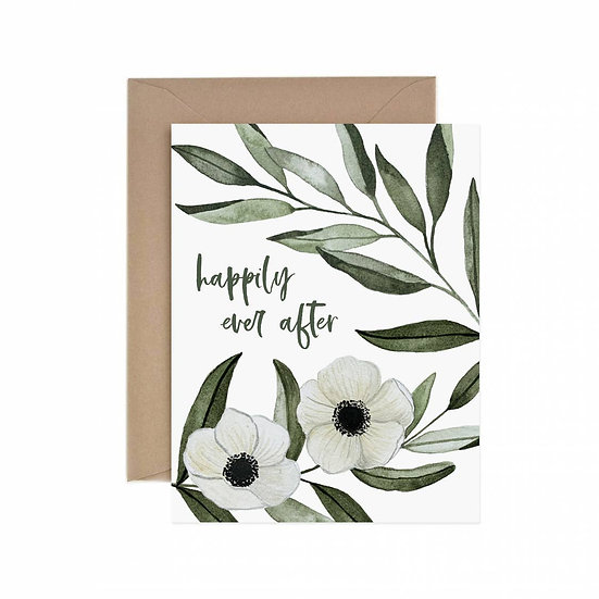Happily Ever After Anemone Greeting Card