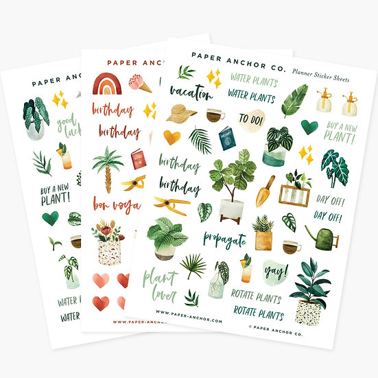 Plant Lover Sticker Sheets
