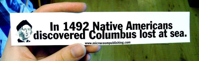 In 1492 Indigenous people discovered Sticker