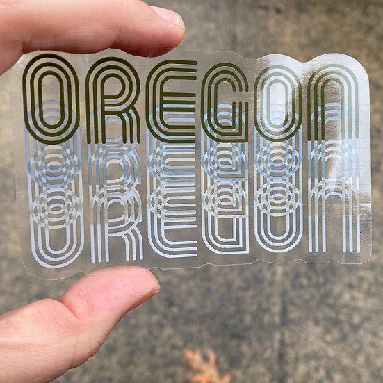Oregon Fade Sticker