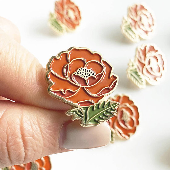 Isabelle Poppy Lapel Pin