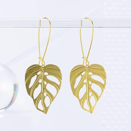 Monstera Adansonii Earrings - A Tea Leaf Jewelry