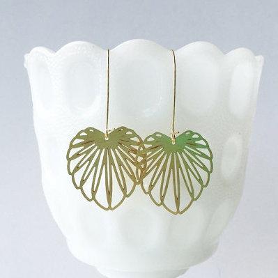 Art Nouveau Leaf Earrings