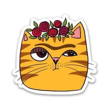Frida Cat Sticker