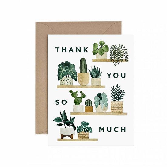 Thank You Shelf Greeting Card