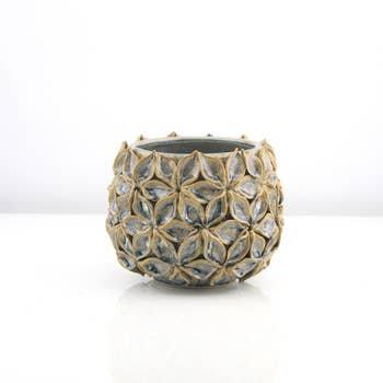Lotus Ceramic Planter