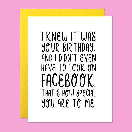 Facebook Bday Card