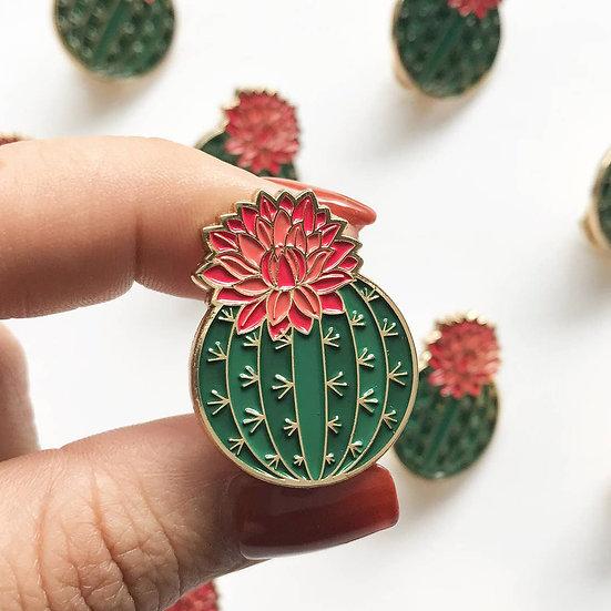 Julia Blooming Cactus Lapel Pin
