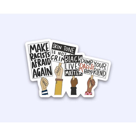 Dump Your Racist Boyfriend Sticker