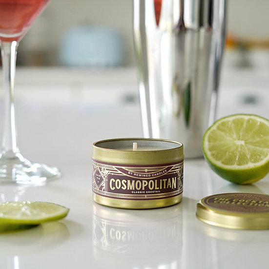 Cocktail Travel Tin Candle-Cosmopolitan