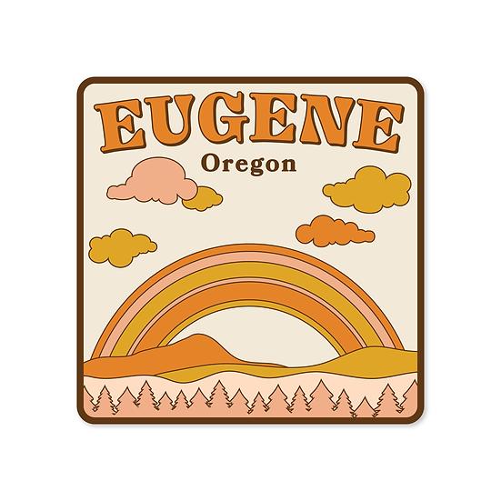 Eugene, Oregon Retro Sticker