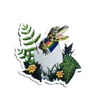 Gay Pride Alligator Sticker