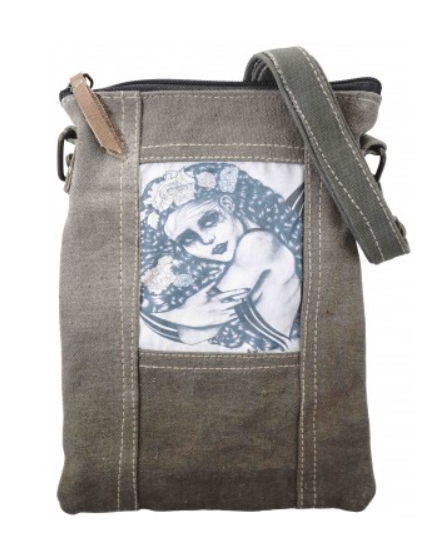 Recycled Tent Crossbody Totes