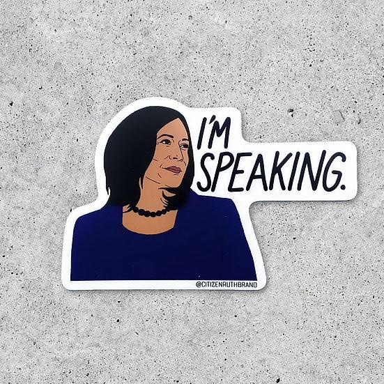 "Kamala Harris ""I'm Speaking"" Sticker"