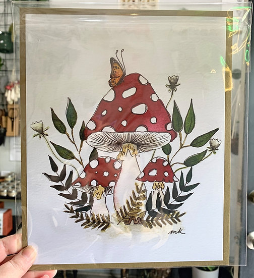 Amanita Mushroom Print