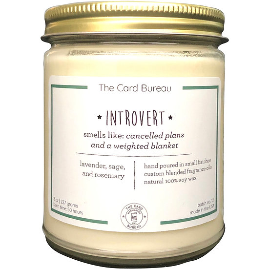 Introvert 8oz Candle