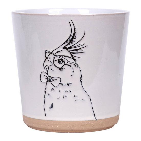 """5.25"""" Parrot Flower Pot"""
