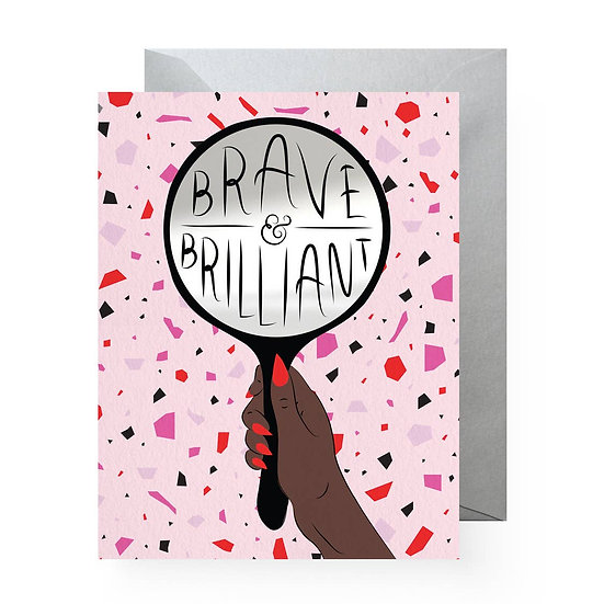 Brave & Brilliant  Sticker Card