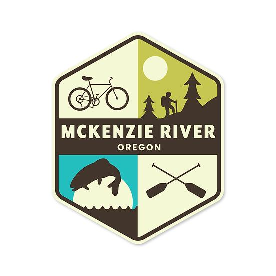 McKenzie River Retro Sticker - Wild Child Brand