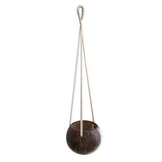 Coconut Macrame Hanging Planter