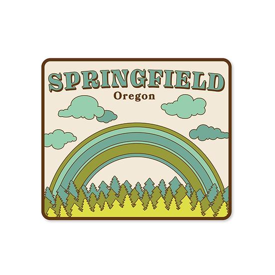 Springfield, Oregon Retro Sticker