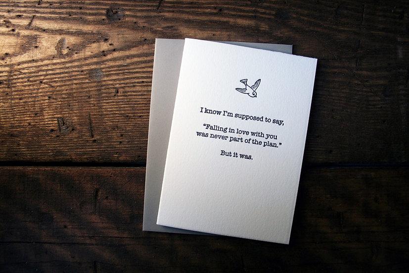 Love Plan Card (Single Card)