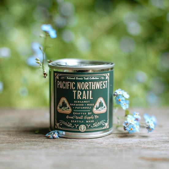 National Scenic Trails Candle - bergamot, oakwood, moss