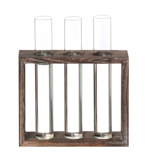 Wooden Propagator 3 tubes