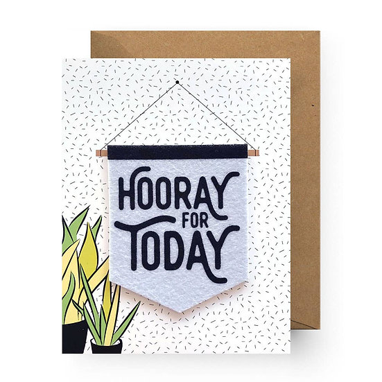 Hooray for Today Sticker Card