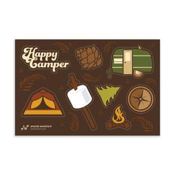 Happy Camper Sticker Sheet