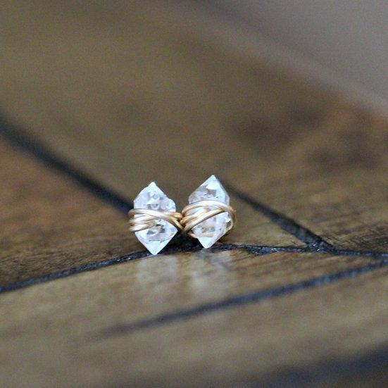 Herkimer Diamond Studs - Saressa Designs