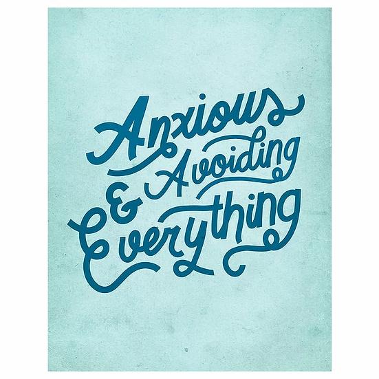 """Anxious"" Print 8x10"