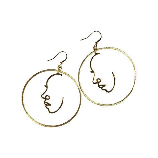Fabulina Designs - The Larisa Face Earrings