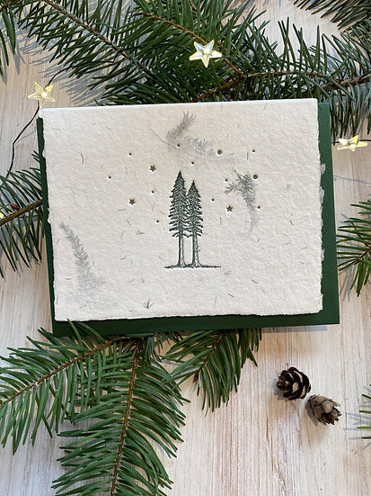Douglas Fir Scented Holiday Card (Single Card)