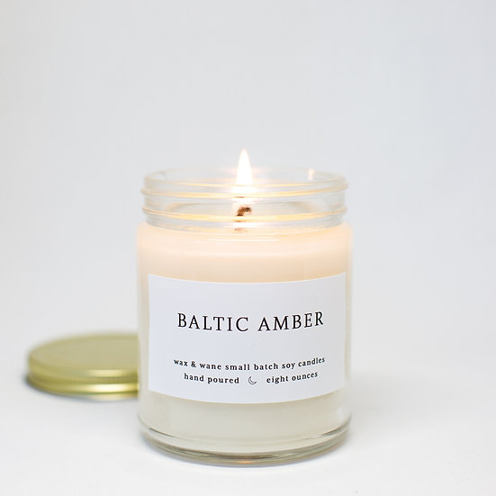 Wax & Wane Baltic Amber Soy Candle 8 oz.
