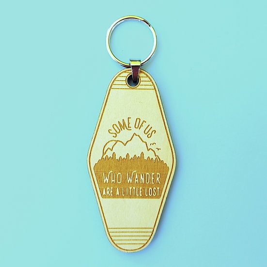 A Little Lost Wood Motel Keychain