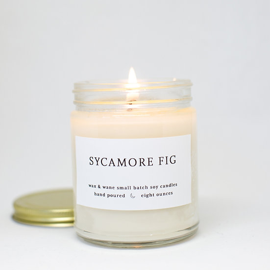 Wax & Wane Sycamore Fig Soy Candle 8 oz.