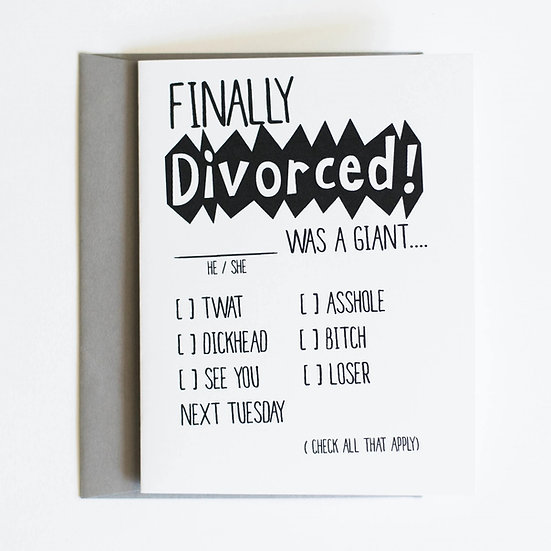 Finally Divorced Card