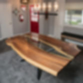 Mesquite Rustic Modern River Dining Table