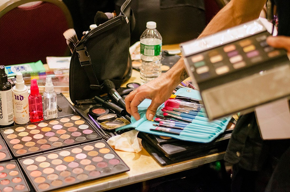 backstage fashion show makeup morphe bh cosmetics makeup trendy fall 2015