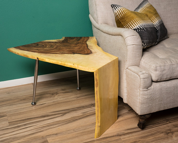Atomic Rosewood Waterfall Live Edge End Table #2