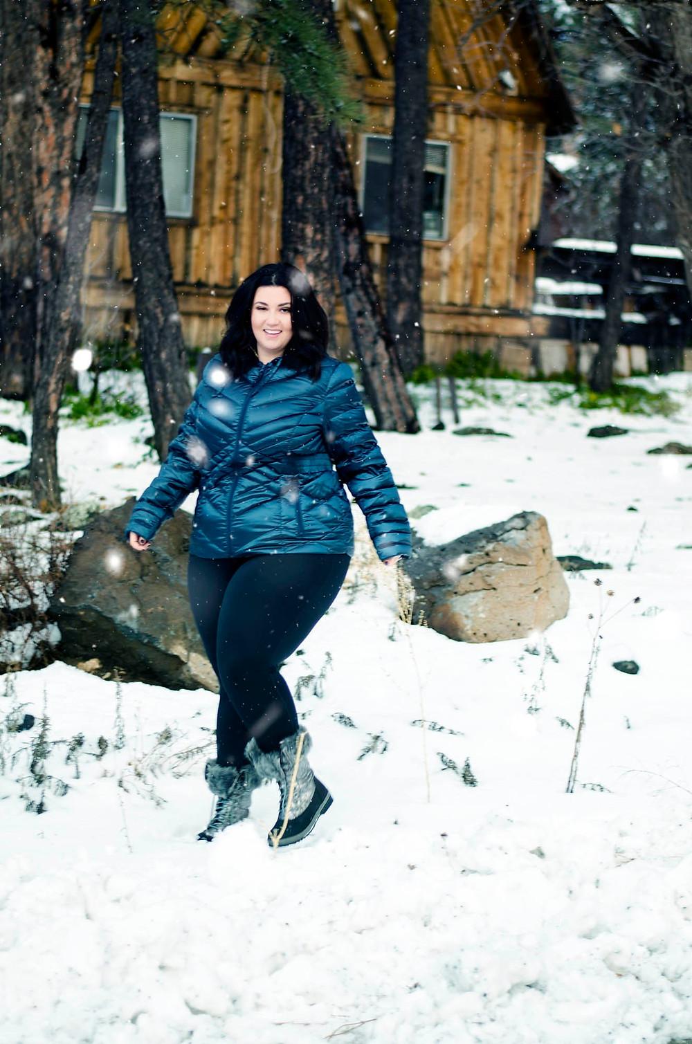 Lane Bryant Winter Plus Size Jacket Warm Snow Ski Flagstaff Arizona Phoenix Blogger Snowbowl