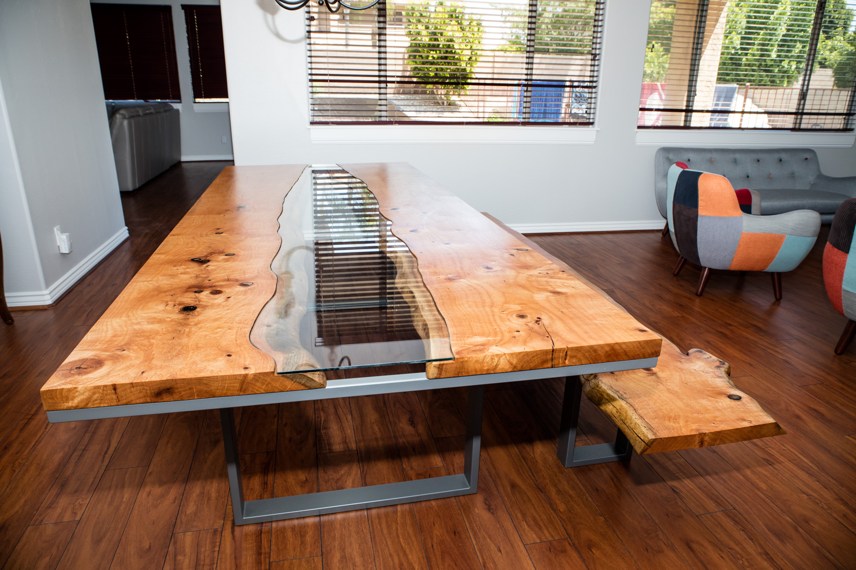 Silky Oak River Table + Bench Build | LumberLust Designs, Upscale Live Edge  Furniture Made In Arizona
